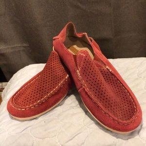 EUC OluKai Nohea Perforated Suede Slip-on